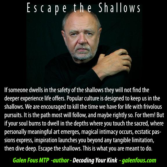 escape the shallows