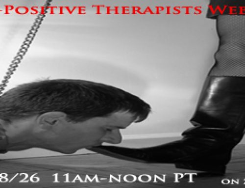 Kink-Positive Therapists Monthly Webinar – 8/26, 11AM PT