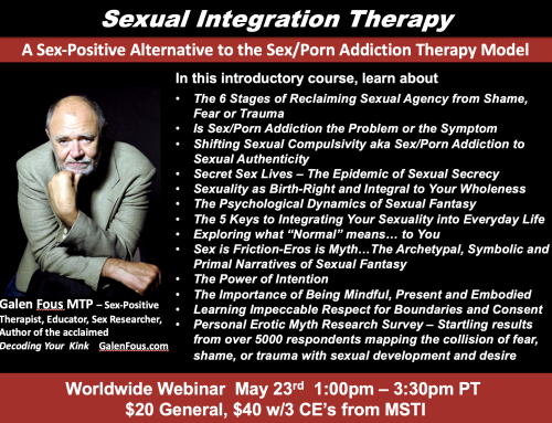 Sexual Integration Theory and Therapy Webinar on 5/23 – 3 CE's available
